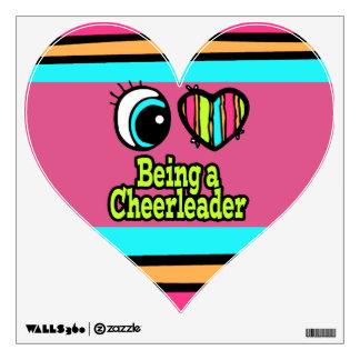 Bright Eye Heart I Love Being a Cheerleader Wall Sticker