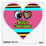 Bright Eye Heart I Love Being a Cheerleader Wall Graphics