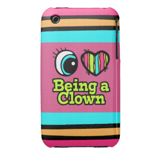 Bright Eye Heart I Love Being a Clown Case-Mate iPhone 3 Cases