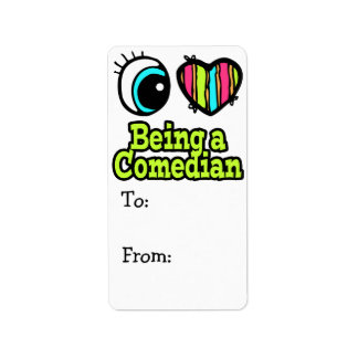 Bright Eye Heart I Love Being a Comedian Address Label