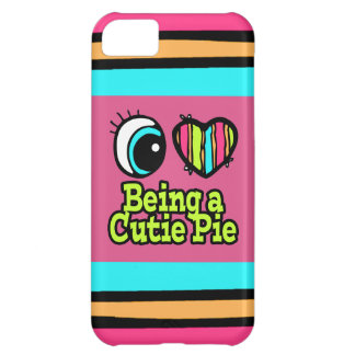 Bright Eye Heart I Love Being a Cutie Pie iPhone 5C Cover