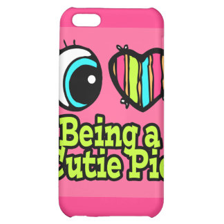 Bright Eye Heart I Love Being a Cutie Pie Cover For iPhone 5C