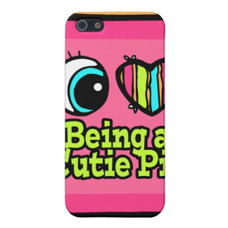 Bright Eye Heart I Love Being a Cutie Pie Cover For iPhone 5