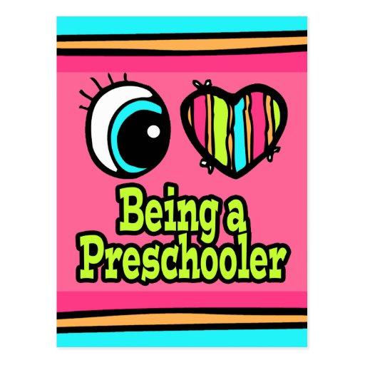 Bright Eye Heart I Love Being a Preschooler Post Card
