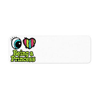 Bright Eye Heart I Love Being a Princess Return Address Label