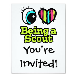 Bright Eye Heart I Love Being a Scout Card