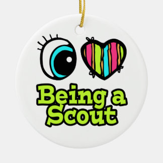 Bright Eye Heart I Love Being a Scout Ceramic Ornament
