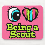 Bright Eye Heart I Love Being a Scout Mousepad