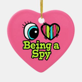 Bright Eye Heart I Love Being a Spy Christmas Ornament