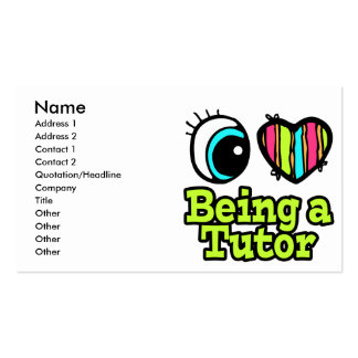 Bright Eye Heart I Love Being a Tutor Double-Sided Standard Business Cards (Pack Of 100)