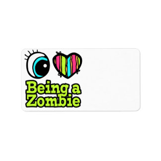 Bright Eye Heart I Love Being a Zombie Label