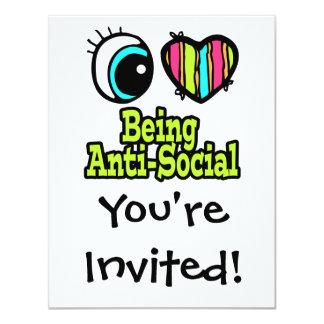 Bright Eye Heart I Love Being Anti-Social Card