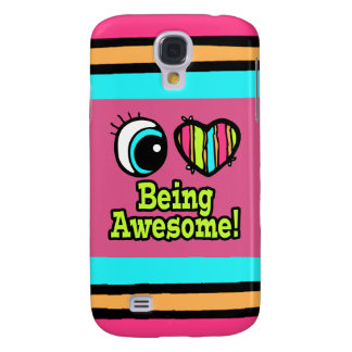 Bright Eye Heart I Love Being Awesome Samsung Galaxy S4 Covers