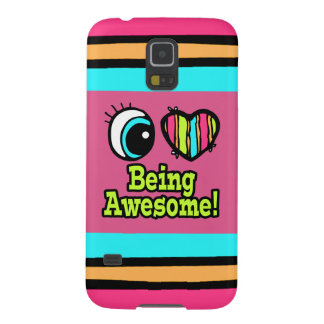 Bright Eye Heart I Love Being Awesome Galaxy S5 Covers