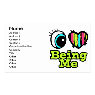 Bright Eye Heart I Love Being Me Double-Sided Standard Business Cards (Pack Of 100)