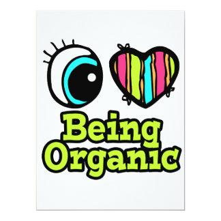 Bright Eye Heart I Love Being Organic 6.5x8.75 Paper Invitation Card