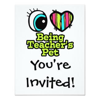 Bright Eye Heart I Love Being Teachers Pet Card