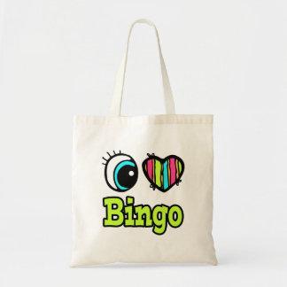 Bright Eye Heart I Love Bingo Tote Bag