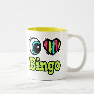 Bright Eye Heart I Love Bingo Two-Tone Coffee Mug