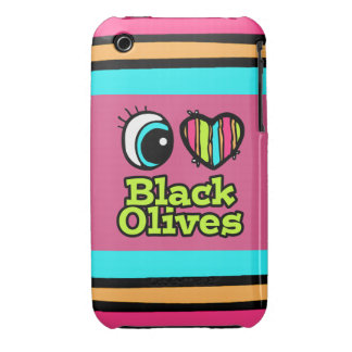 Bright Eye Heart I Love Black Olives iPhone 3 Covers