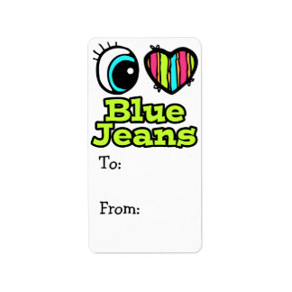 Bright Eye Heart I Love Blue Jeans Label