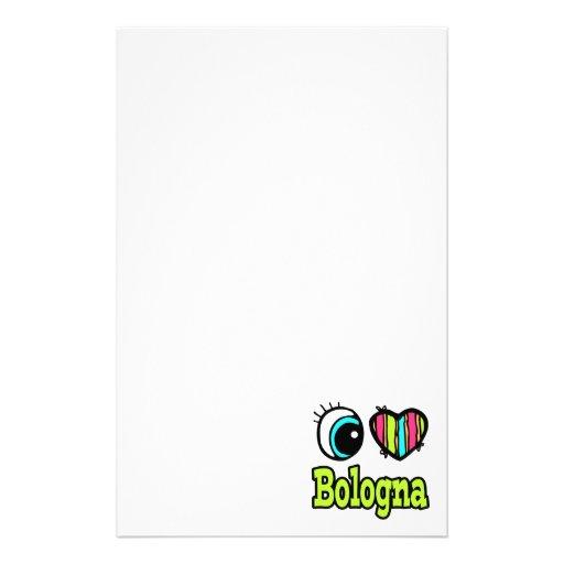 Bright Eye Heart I Love Bologna Stationery
