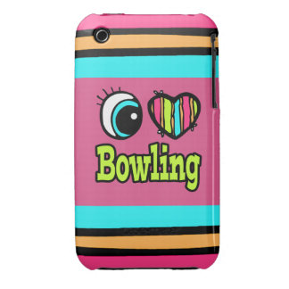 Bright Eye Heart I Love Bowling Case-Mate iPhone 3 Cases