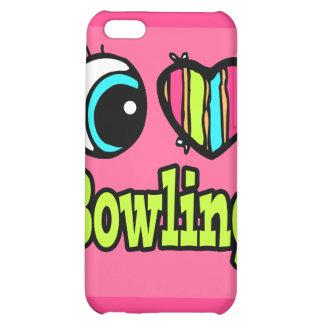 Bright Eye Heart I Love Bowling iPhone 5C Covers