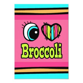 Bright Eye Heart I Love Broccoli 4.5x6.25 Paper Invitation Card