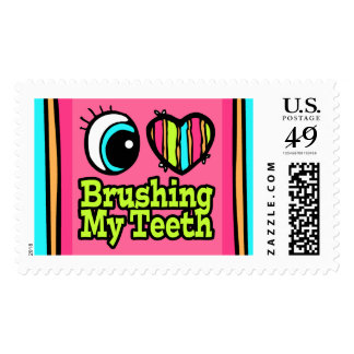 Bright Eye Heart I Love Brushing My Teeth Postage