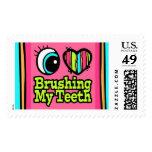 Bright Eye Heart I Love Brushing My Teeth Stamps