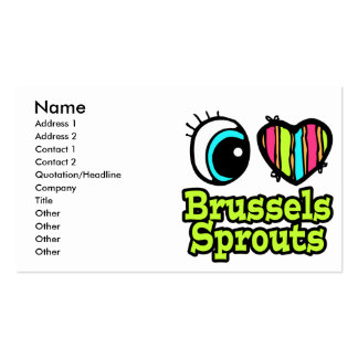 Bright Eye Heart I Love Brussels Sprouts Business Card