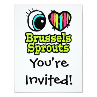 Bright Eye Heart I Love Brussels Sprouts Card