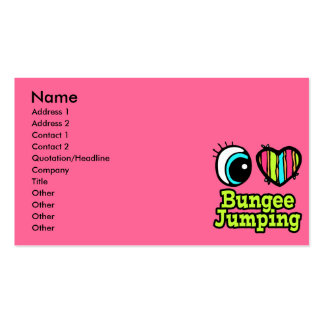 Bright Eye Heart I Love Bungee Jumping Business Card
