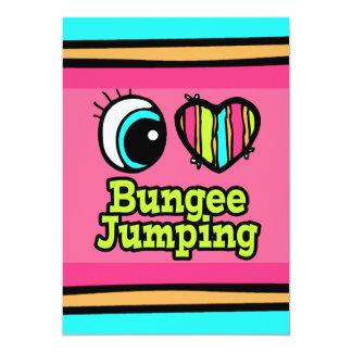 "Bright Eye Heart I Love Bungee Jumping 5"" X 7"" Invitation Card"