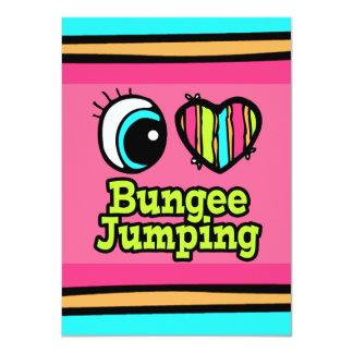 "Bright Eye Heart I Love Bungee Jumping 4.5"" X 6.25"" Invitation Card"