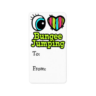 Bright Eye Heart I Love Bungee Jumping Label