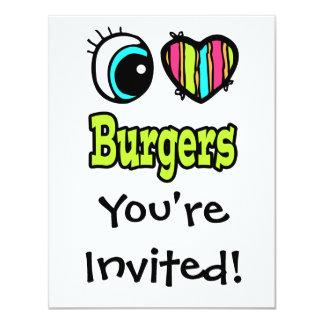 Bright Eye Heart I Love Burgers Card