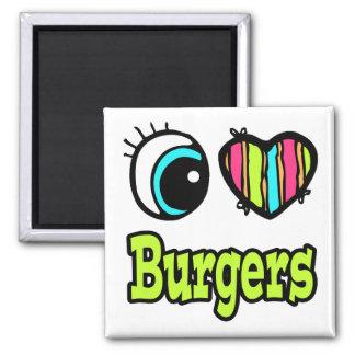 Bright Eye Heart I Love Burgers Fridge Magnets