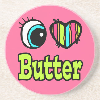Bright Eye Heart I Love Butter Drink Coaster