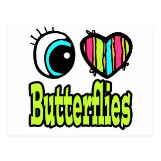 Bright Eye Heart I Love Butterflies Postcard