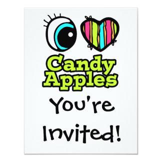 Bright Eye Heart I Love Candy Apples Card