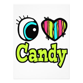 Bright Eye Heart I Love Candy Personalized Invites
