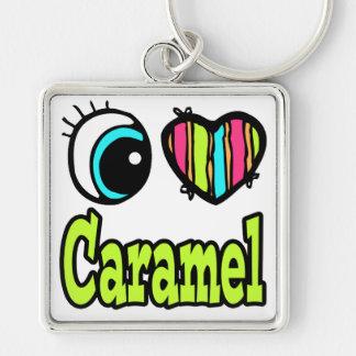 Bright Eye Heart I Love Caramel Keychain