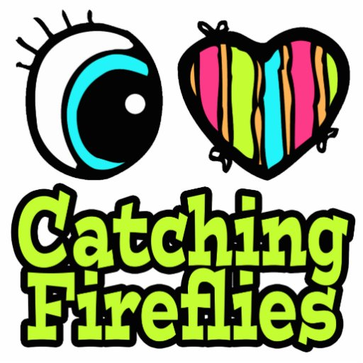 Bright Eye Heart I Love Catching Fireflies Photo Sculpture Keychain