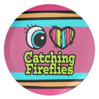 Bright Eye Heart I Love Catching Fireflies Dinner Plates