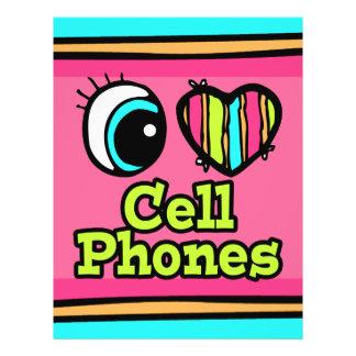 Bright Eye Heart I Love Cell Phones Full Color Flyer