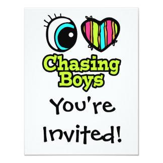 Bright Eye Heart I Love Chasing Boys Card