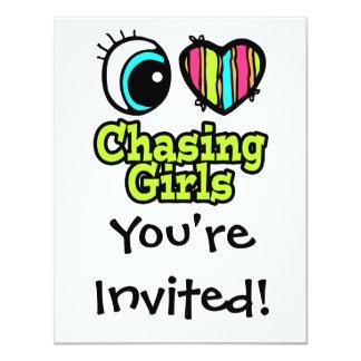 Bright Eye Heart I Love Chasing Girls Card