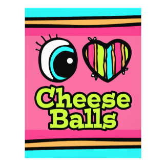 "Bright Eye Heart I Love Cheese Balls 8.5"" X 11"" Flyer"